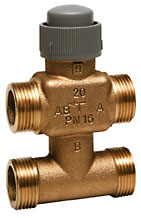 V5833C trieigis ventilis; 2,5 mm; DN15/20; PN16