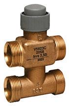 V5823C trieigis ventilis; 2,5 mm; DN15/20; PN16